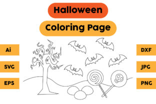 Halloween Coloring Page 82 Graphic Coloring Pages & Books Kids By isalsemarang