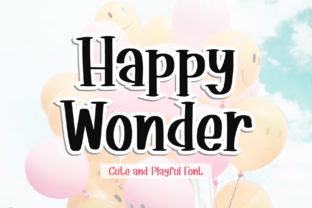 Print on Demand: Happy Wonder Serif Schriftarten von AquariiD
