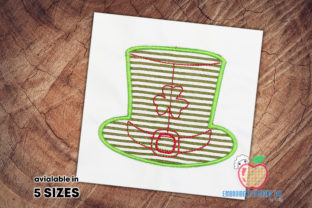 Hat of the St.Patrick St Patrick's Day Embroidery Design By embroiderydesigns101