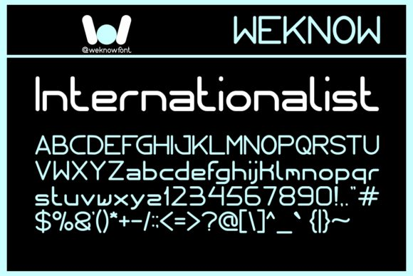 Print on Demand: Internationalist Display Font By weknow