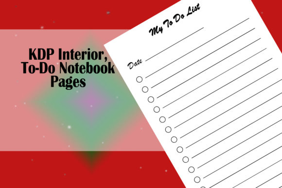 Print on Demand: KDP Interior, to-Do Notebook Pages Graphic KDP Interiors By Designs_by_Shorty