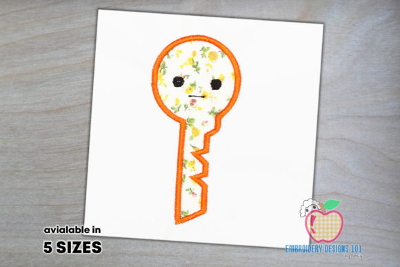 Key to Open is Made As the Cartoon Borders Embroidery Design By embroiderydesigns101