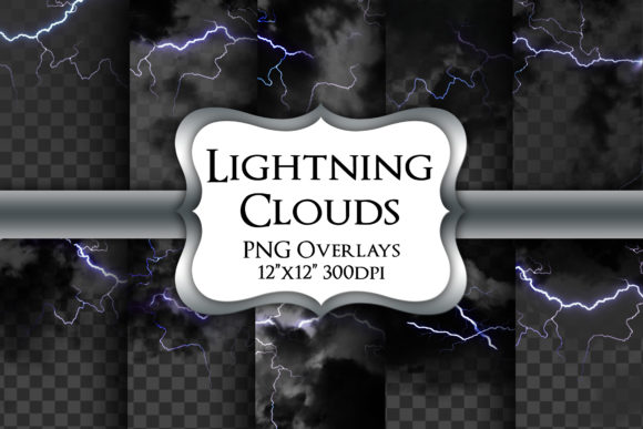 Print on Demand: Lightning Overlays Transparent PNG Graphic Illustrations By Party Pixelz