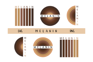 Print on Demand: Melanin for Cricut Graphic Objects By CuteShopClipArt