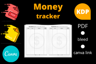 Print on Demand: Money Tracker KDP Interior Gráfico Páginas KDP Por Dunkyshot