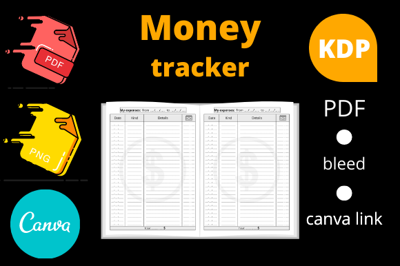 Print on Demand: Money Tracker KDP Interior Graphic KDP Interiors By Dunkyshot