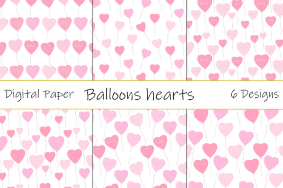 Patterns Balloons Hearts Valentine's Day Graphic Patterns By shishkovaiv