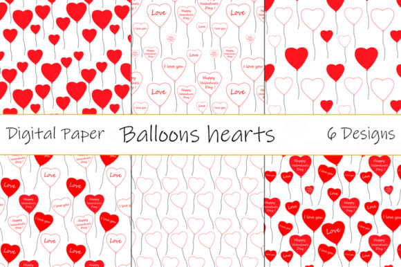 Patterns Balloons Valentine's Day Vector Graphic Patterns By shishkovaiv