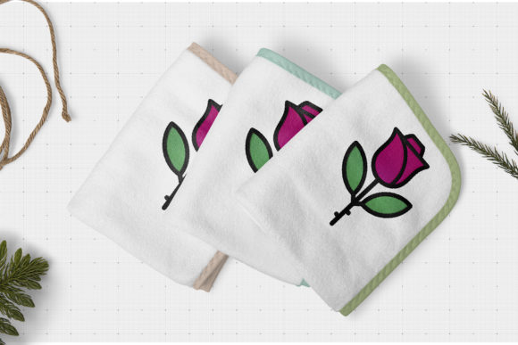 Perfect Rose Single Flowers & Plants Embroidery Design By Digital Creations Art Studio