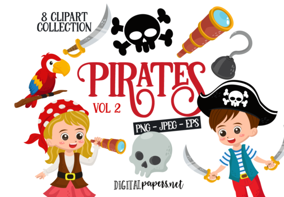 Print on Demand: Piarates Vol. 1 Graphic Illustrations By DigitalPapers