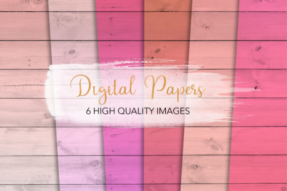 Print on Demand: Pink Wood Backgrounds Graphic Backgrounds By loyaarts
