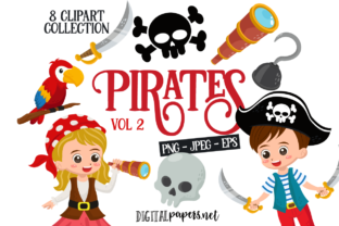 Print on Demand: Pirates VOL. 2 Graphic Illustrations By DigitalPapers