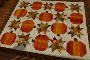 Pumpkin Star Quilt Pattern Graphic Quilt Patterns By frommycarolinahome