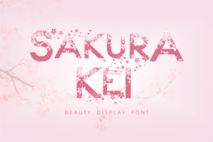 Print on Demand: Sakura Kei Display Font By arukidz.fl