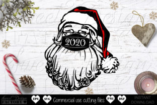Print on Demand: Santa with Mask Graphic Crafts By SweetDesignFactory