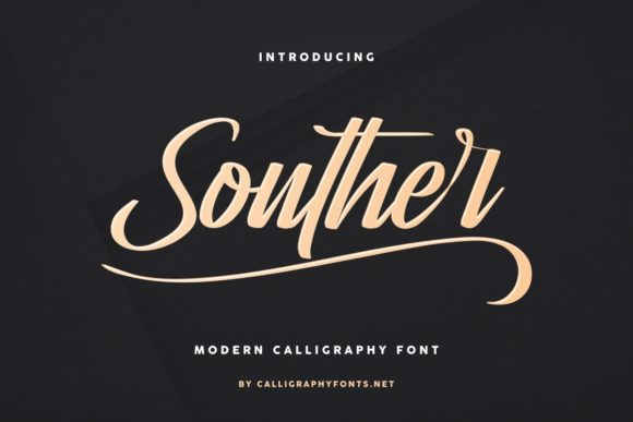 Print on Demand: Souther Script & Handwritten Font By CalligraphyFonts