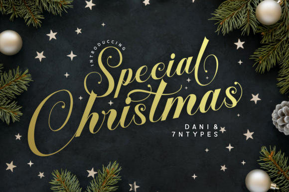 Print on Demand: Special Christmas Script & Handwritten Font By Dani (7NTypes)