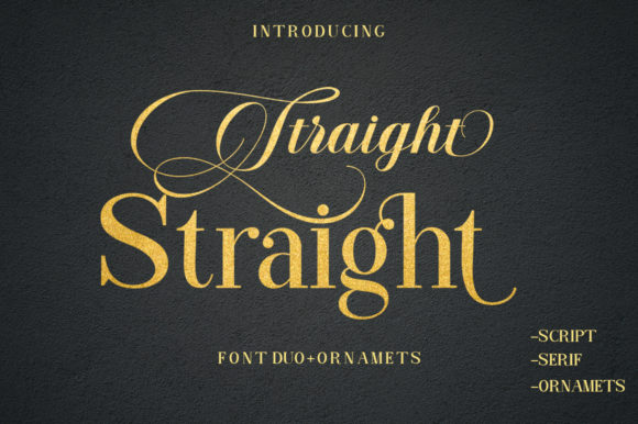 Print on Demand: Straight Script & Handwritten Font By typehill