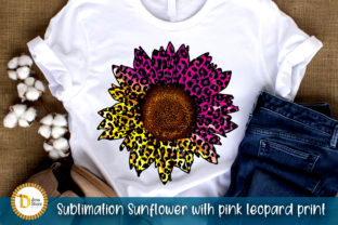 Sublimation Sunflower with Pink Leopard Graphic Crafts By dina.store4art