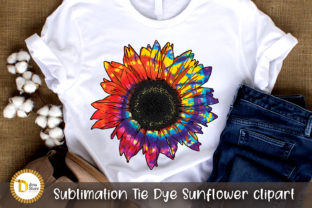 Sublimation Tie Dye Sunflower Clipart Graphic Crafts By dina.store4art