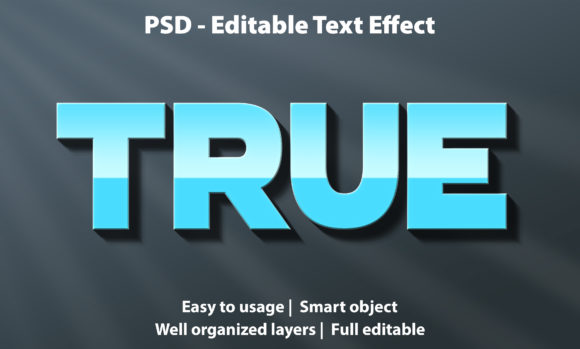 Text Effect True Premium Graphic Graphic Templates By yosiduck