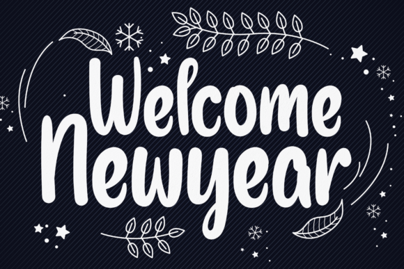Print on Demand: Welcome Newyear Script & Handwritten Font By handmadetipe