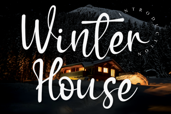 Print on Demand: Winter House Script & Handwritten Font By handmadetipe