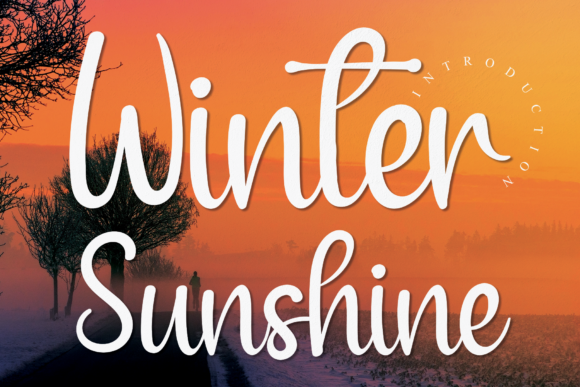 Print on Demand: Winter Sunshine Script & Handwritten Font By handmadetipe