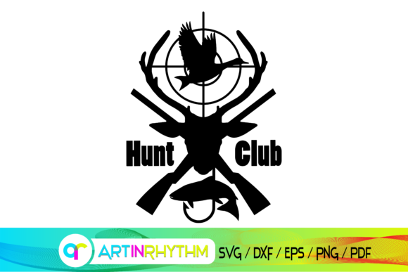 Hunt Club Svg, Hunting Svg, Hunt Season Graphic Crafts By artinrhythm