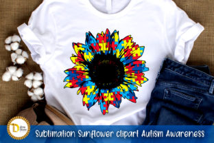 Sublimation Sunflower Autism Awareness Graphic Crafts By dina.store4art