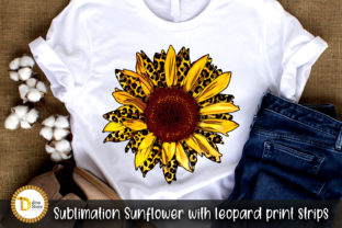 Sublimation Sunflower with Leopard Print Graphic Crafts By dina.store4art