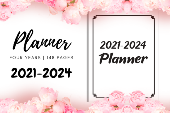 Print on Demand: 2021-2024 Four Years Planner | KDP Graphic KDP Interiors By Fayne
