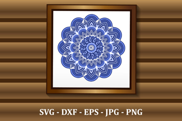 Download 3d Layered Mandala Svg Files For Cnc Cut Graphic By Amarylleart Creative Fabrica