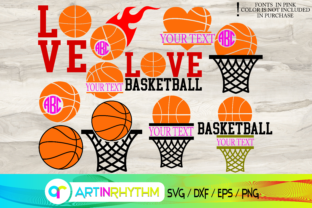Basketball Svg, Ball Svg, Ring Svg Graphic Crafts By artinrhythm