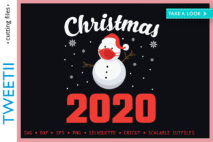 Print on Demand: Christmas 2020 Masked Snowman Fun Graphic Crafts By Tweetii
