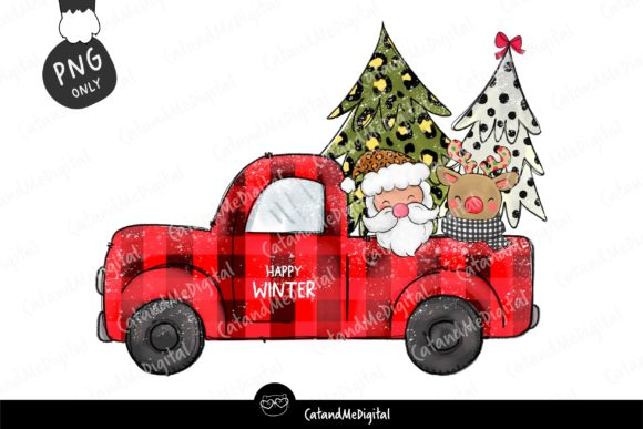Christmas Sublimation Design Graphic Illustrations By CatAndMe