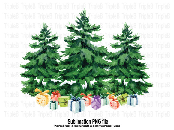 Print on Demand: Christmas Tree Gifts Boxes Sublimation Graphic Crafts By TripleBcraft