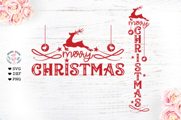 Christmas Vertical and Horizontal Sign Graphic Crafts By GraphicHouseDesign