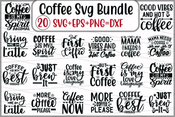 Coffee Svg Design Bundle Graphic Print Templates By creative store.net