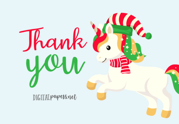Cute Christmas Unicorns Graphic Item