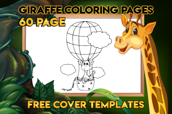 Giraffe Coloring Book For Kids (Graphic) By MK DESIGN · Creative Fabrica
