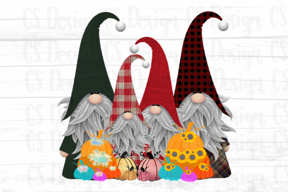 Print on Demand: Gnomes Christmas  Sublimation Design Graphic Crafts By CSDesign
