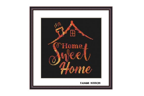 Home Sweet Home Cross Stitch Pattern Graphic Cross Stitch Patterns By Tango Stitch