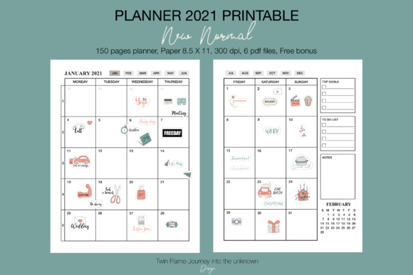 Planner 2021 New Normal Printable Graphic