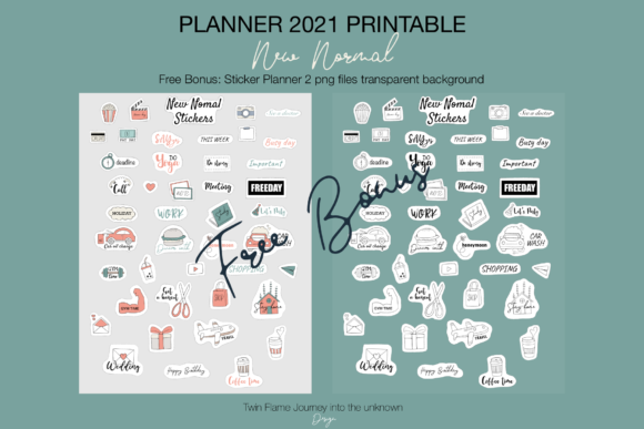 Planner 2021 New Normal Printable Graphic Download