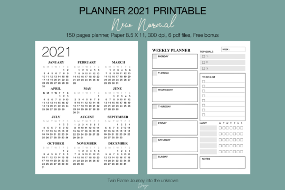 Planner 2021 New Normal Printable Graphic Item