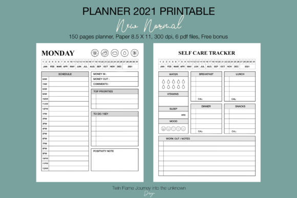 Planner 2021 New Normal Printable Graphic Design