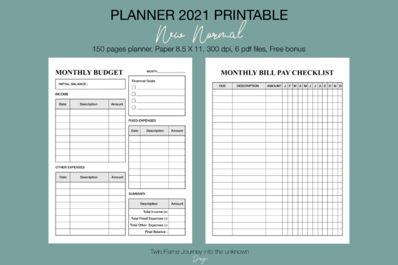 Planner 2021 New Normal Printable Graphic Image