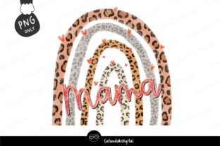 Rainbow Leopard Mama Sublimation Graphic Illustrations By CatAndMe