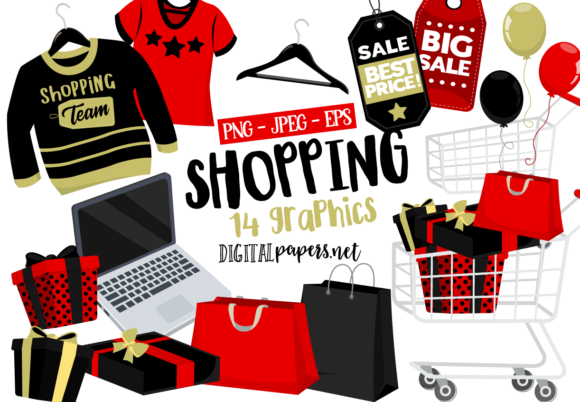 Print on Demand: Shopping Time Graphic Illustrations By DigitalPapers